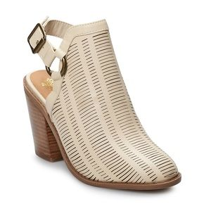 Sugar Women's Almond Cut-our Design Ankle Booties
